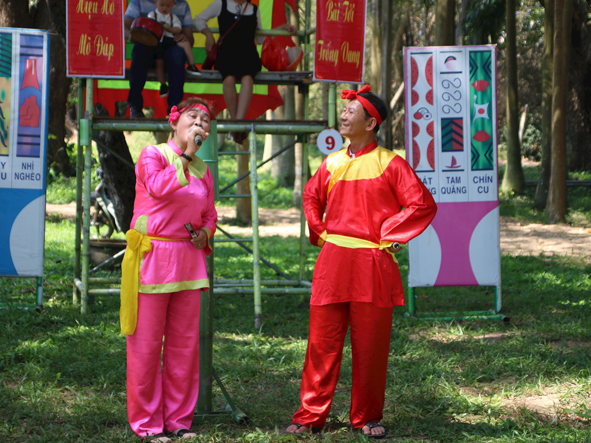 'Gia đình bài chòi' ở xã đảo Cù lao Xanh Bình Định